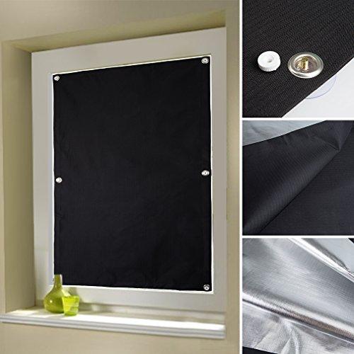 Kinlo 60x115cm Thermo Dachfenster Sonnenschutz Verdunkelungsrollo Fur Velux Dachfenster Aus 100 Polyester Mit Krafthaftsaugern Und Silber