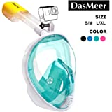 DasMeer Snorkel Mask Full Face Seaview 180°GoPro Compatible Mask with Easy Breathing Easy Draining Design and Anti-Fog…