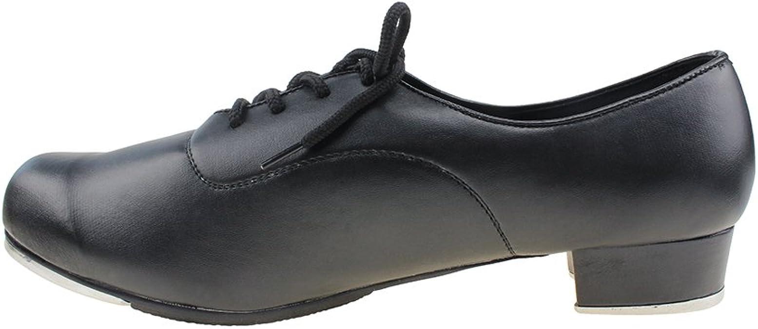 MSMAX Men Lace up Flex Tap Latin Dance Shoes