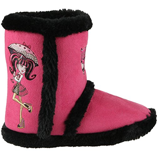 Boot Chaussons-Bottines Fourrés Fuschia & Noir L'EFFIGIE de Draculaura et Logo Monster High Pointure 33