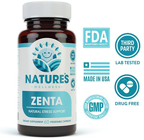 ZENTA - The Natural Anxiety Relief and Anti Stress Supplement to Help Calm  Body and Mind | Positive Mood Enhancer - Increase Serotonin Levels with