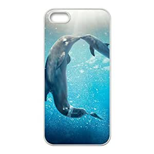 {Dolphin Series} IPhone 5,5S Cases Dolphin Tale 2, Unique Design Case Pharrel - White