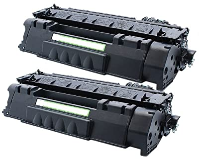 2 Pack Ink4work© Replacement Toner Cartrige for HP CE505A (05A) LaserJet P2035, P2035n, P2055d, P2055dn, P2055X
