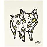Swedish Treasures Wet-it! Cleaning Cloth, Daisy Pig, Super Absorbent, Reusable, Biodegradable, All-purpose