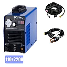 DALISHI Plasma Cutter DC Inverter 60A IGBT Cutting Machine Dual Voltage110/220V Cutting Thickness(1-15mm) With Cutting Torch and Consumables For ICUT60