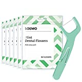 Amazon Brand - Solimo Mint Dental Flossers, 540 Count (6 Packs of 90)