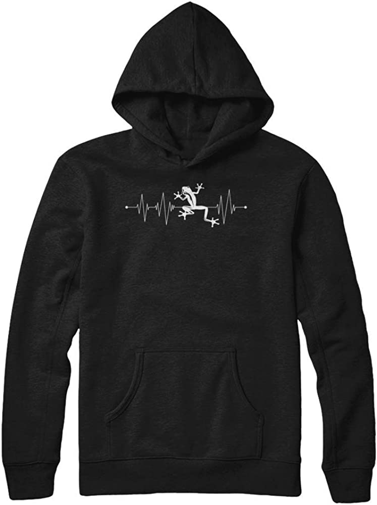 Pullover Hoodie Teely Shop Mens Womans Cute Frog Heartbeat Lover Animal1 Gildan
