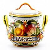 FRUTTA: Round Biscotti Jar with 2/Handles (Small) [#4323/F2-FRU]