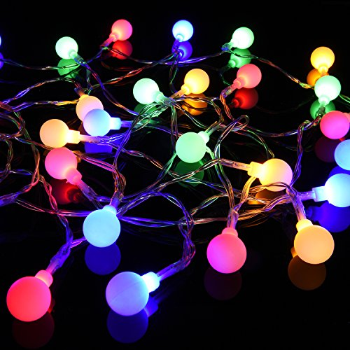 USA free shipping Globe Rubber String Lights, DecorNova 13 feet 30 LEDs IP44 Waterproof Outdoor ...