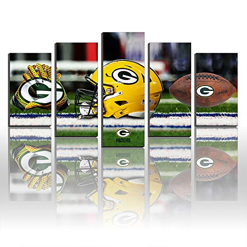 Creative Canvas Prints Wall Art Decor Green Bay Packers Football Sport Pictures Painting -