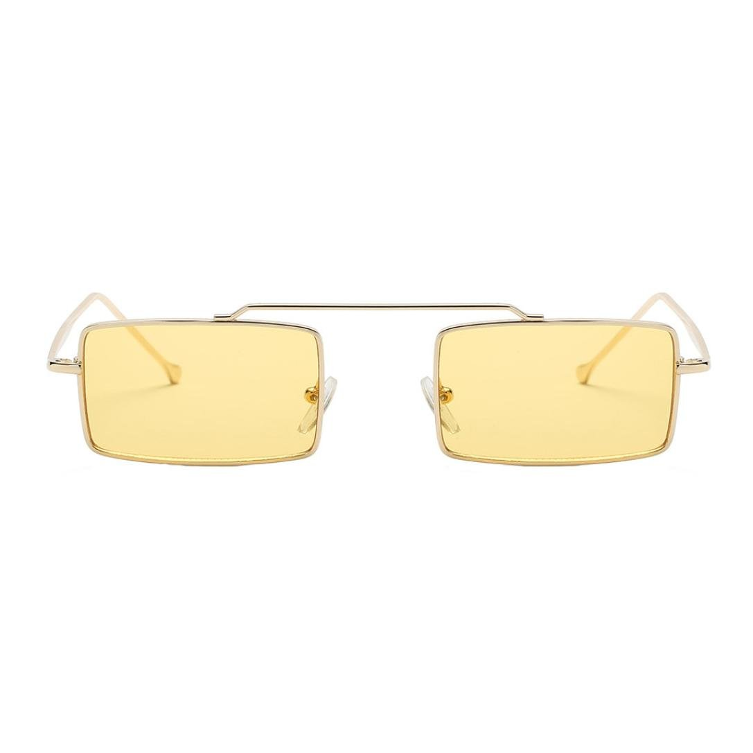 Inkach Womens Sunglasses ❤️ Fashion UV 400 Eye Glasses Square Frame Sun Glasses Eyeglasses (Yellow) by Inkach - (Image #1)