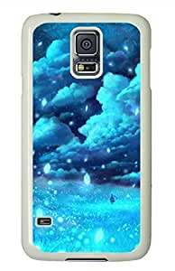 S5 Case, Galaxy S5 Case - Brian114 Night Sky White Hard Case Cover for Samsung Galaxy S5 I9600 Cover
