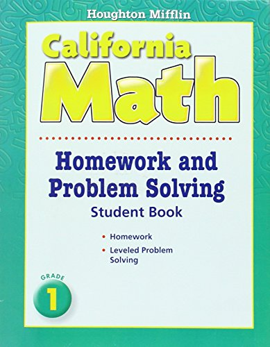 California Math Homework and Problem Solving, Grade 1 (Houghton Mifflin Mathmatics)