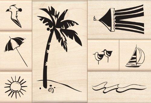 Inkadinkado Day at the Beach Wood Stamp Set ()