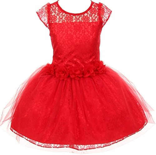AkiDress Lace Over Charmeuse Satin Flower Girl