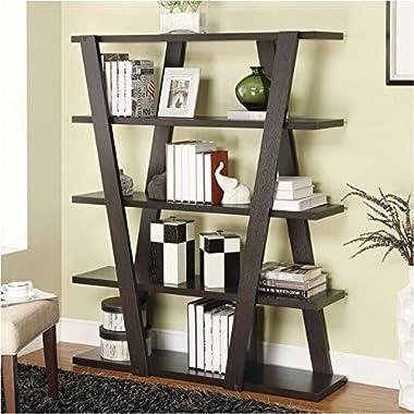 Coaster Bookshelf, Cappuccino