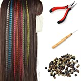SARLA Feather Hair Extensions Kit for Girl Kids