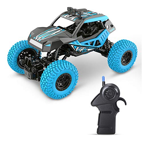DEERC DE32 RC Car Offroad Trucks for Kids 1/20 Scale 2.4GHz Remote Control Racing Monster Trucks with Rechargeable Battery,RC Crawlers,Electric Hobby Toy Cars for Adults Boys & Girls (Best Rc Monster Truck For Kids)