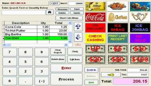 Biztracker Retailer Point of Sale Touch Screen POS Software