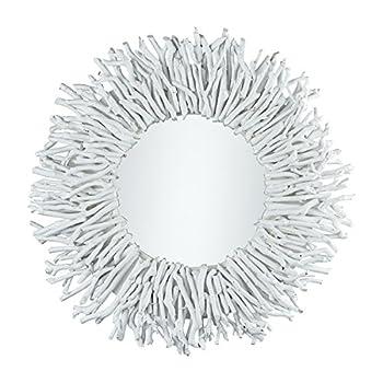 Pomeroy 917653 Birch Lane 25 X 25 inch White and Mirror Wall Mirror