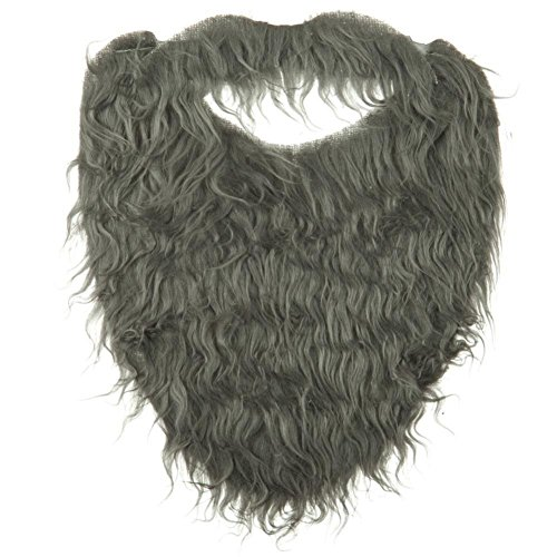 Fake Grey Beard (Jacobson Hat Company Men's Beard with Elastic, Grey, Adult, One)