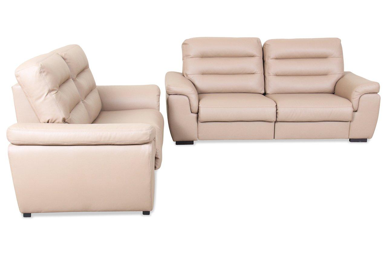 sofa matex garnitur 3 2 forest braun kunstleder braun. Black Bedroom Furniture Sets. Home Design Ideas
