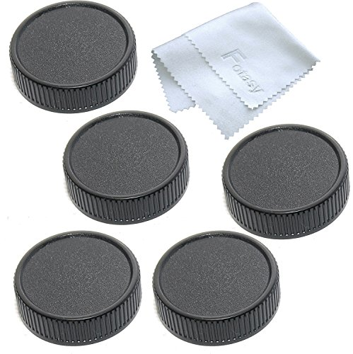 Lens Rear Cap for M42 42mm Screw Mount Lens, w/ Fotasy Premier Cleaning Cloth