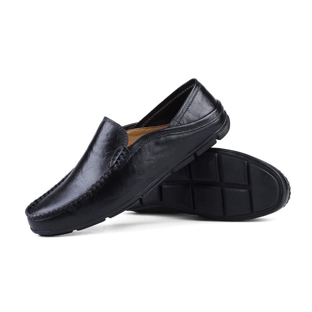 Yajie schuhe, Light Herrenmode Soft & Super Light schuhe, Mokassins Wave Sole Slip On Driving Loafer (Farbe : Blau Hollow, Größe : 47 EU) Schwarz 743f7b
