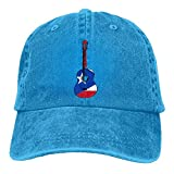2018 Adult Fashion Cotton Denim Baseball Cap Puerto Rico Flag Guitar Art Classic Dad Hat Adjustable Plain Cap