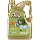 Automotive : Castrol 03555 EDGE Bio-Synthetic 5W-30 Advanced Full Synthetic Motor Oil, 5 quart, 1 Pack