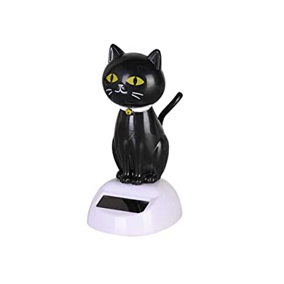 Amosfun Solar Toy Doll Dancing Figure Car Ornament Eco Friendly Solar Powered Car Decoration Car Interior Display Desktop Decor Gift for Christmas (Black): Home & Kitchen