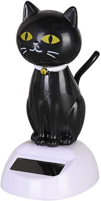 Scultura decorativa per auto in ABS a forma di gatto portafortuna per interni del cruscotto decorazione a energia solare accessorio per la casa