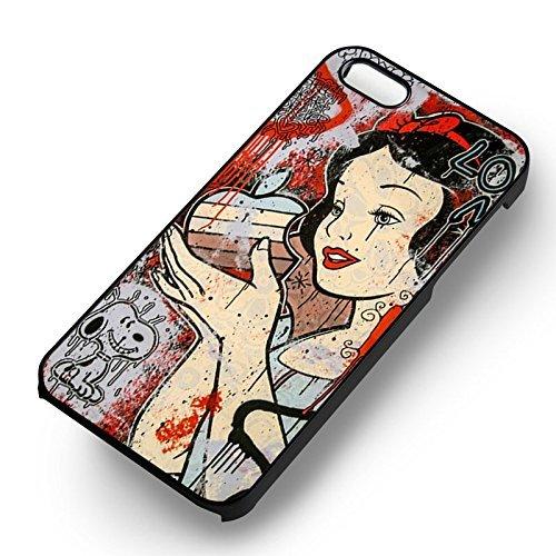 Snow blanc Grafitty pour Coque Iphone 6 et Coque Iphone 6s Case (Noir Boîtier en plastique dur) B1F1TB