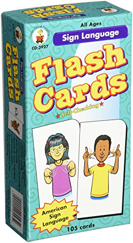 Carson-Dellosa Publishing Sign Language Flash Cards (CD-3927)
