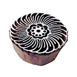 #3: Indian Print Stamps Swirl Round Pattern Wooden Blocks