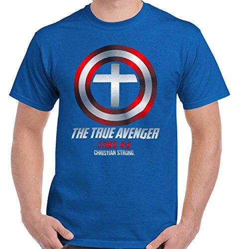 True Avenger Marvel Jesus Christ Christian Shirt T-Shirt Tee (America Clothing)