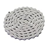 YBN S410 Bicycle Chain (1-Speed, 1/2 x 1/8-Inch, 112L) , Various Colors (White)