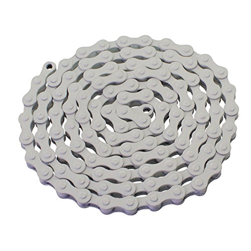 - YBN S410 Bicycle Chain (1-Speed, 1/2 x 1/8-Inch, 112L) , Various Colors (White)