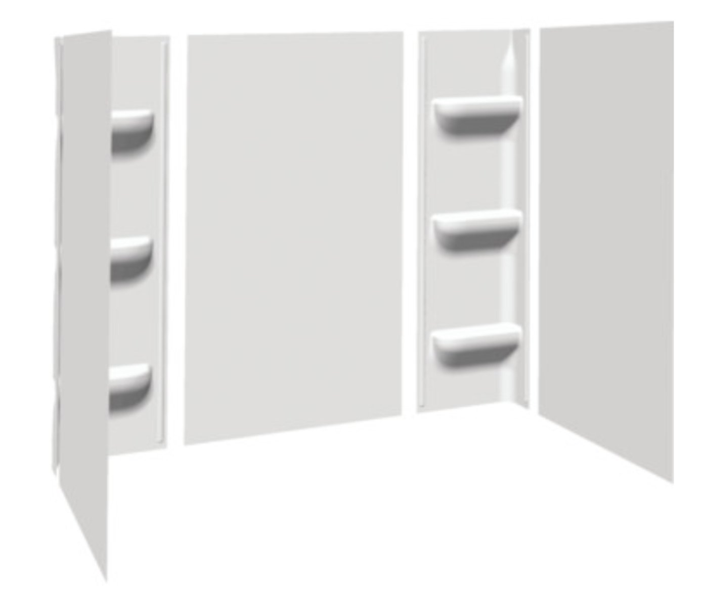 Bath Tub Shower Wall Surround 5 Piece White - - Amazon.com