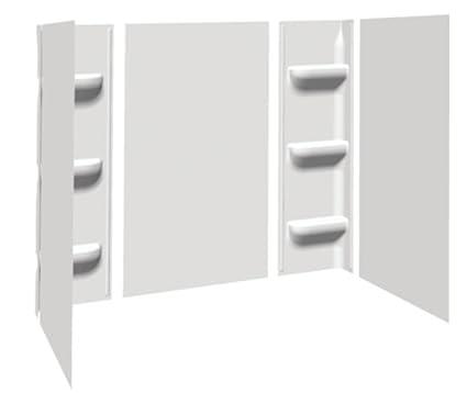 Bath Tub Shower Wall Surround 5 Piece White, Bathroom Hardware ...
