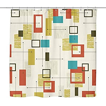 Amazon Bad Tiki Mid Century Modern Vintage Retro Shower Curtain