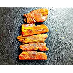 Large Quality Tanzanian Orange Kyanite Large Crystal Parcel. 5pcs, 77.8cts. Wire Wrapping and Jewelry Making Gemstones.