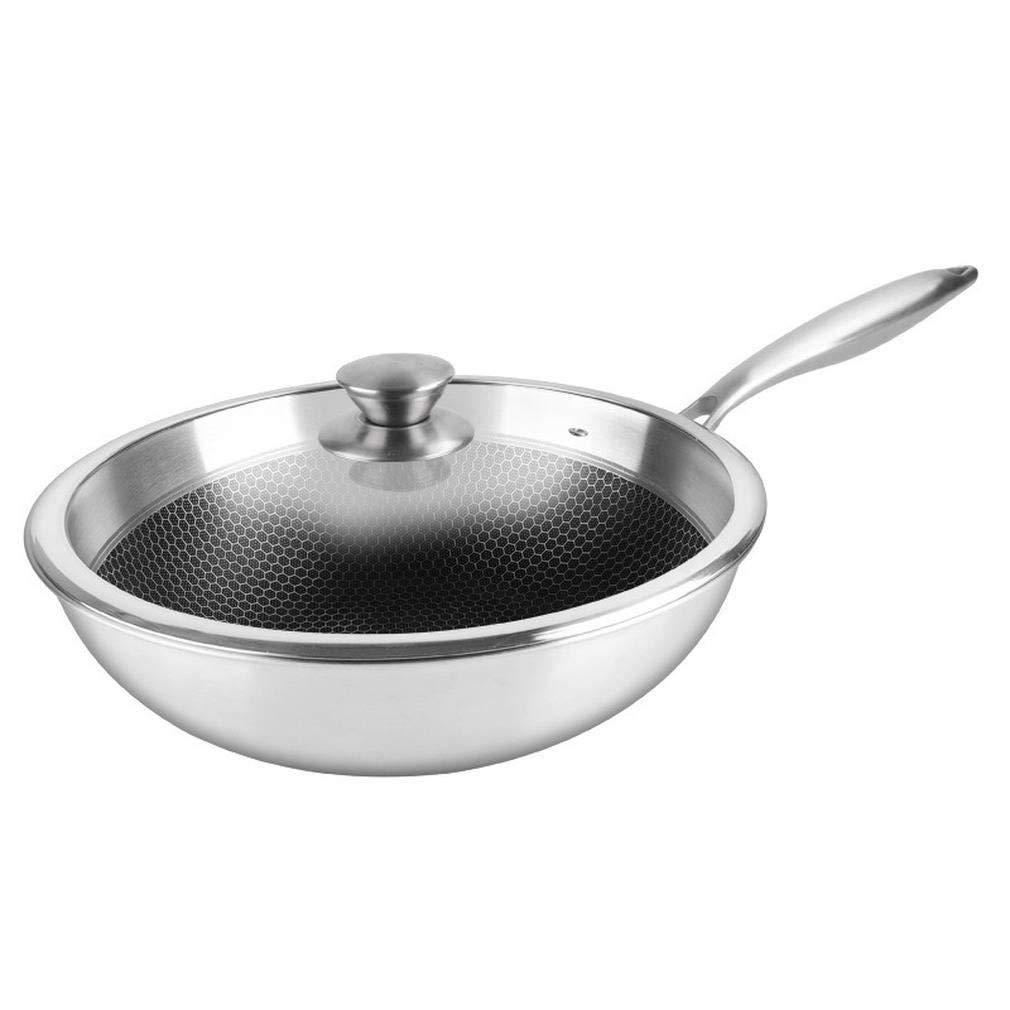 Honeycomb wok 304 compuesto de acero inoxidable de tres ...