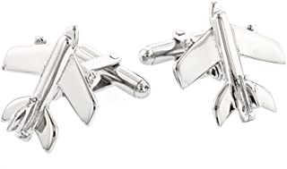 product image for JJ Weston Airplane Cufflinks. Made in The USA.
