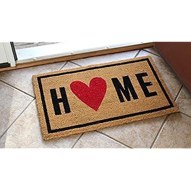 HOME DOORMAT|COCO COIR DOOR MATS outdoor or indoor|Natural COIR fiber DOORMAT,DOOR MAT for high traffic,Patio,Garage,Outside,Entrance way|Non slip rubber backing|18x30x0.5