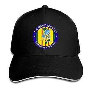 GENZHESI U.S. Navy Seabees Vietnam Veteran Adjustable Baseball Hat Dad Hats Trucker Hat Sandwich Visor Cap