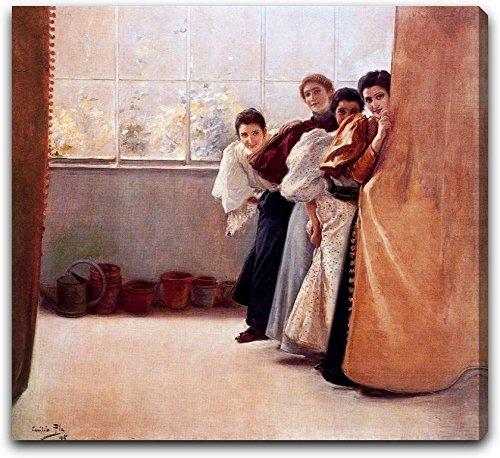escondidas-by-cecilio-pla-y-gallardo-15-x-15-gallery-wrapped-canvas-art-print-ready-to-hang