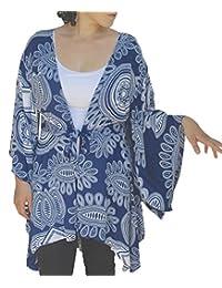 "PLUS SIZE Tunic Cardigan, Kimono Sleeve Style, Womens Plus Sizes, Bust up to 58"""