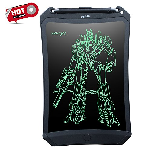 Digital Writing Pad (Doodle Pad LCD Writing Tablet - NEWYES NYWT085D - 8.5 Inches Robot Pad Office Memo Home Message Board Kids Drawing board Electronic Graphic Drawing Tablet (Black))