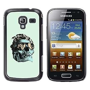 Be Good Phone Accessory // Dura Cáscara cubierta Protectora Caso Carcasa Funda de Protección para Samsung Galaxy Ace 2 I8160 Ace II X S7560M // Cool Green Miami Skull Death Metal